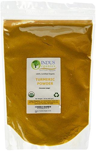 Indus Organics Turmeric (Curcumin) 1 Lb,Refill Bag, Premium Grade, High Purity, Freshly Packed