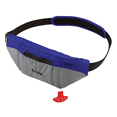 1 - Onyx M-24 Manual Inflatable SUP Belt Pack Life Jacket - Blue by Onyx Outdoor