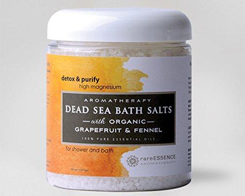 rareEssence Aromatherapy - Dead Sea Bath Salts- Grapefruit & Fennel 22 oz