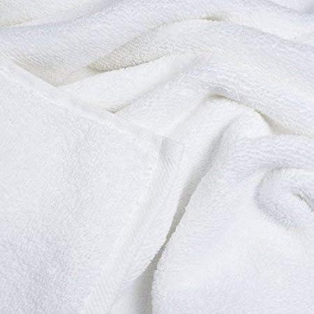bianco 5 Asciugamani di Bagno di 100 x 150 cm 500 g//m/² puro cotone egiziano bianco Hotel 100 x 150 cm 100/% cotone