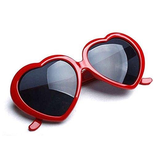 de 2013 en soleil Rouge rétro cœur de demandé l'amour lunettes très HuaYang forme CxTfvwqdvg