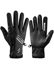 Winter Gloves, Anti Slip Touch Screen Gloves Full Finger Windproof Waterproof Warm Gloves for Men Women for Running Cycling Driving Snow Skiing