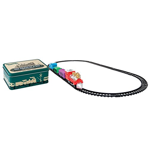 5.5 Inch Train in a Tin Locomotive Train Cars and Oval Track Toy