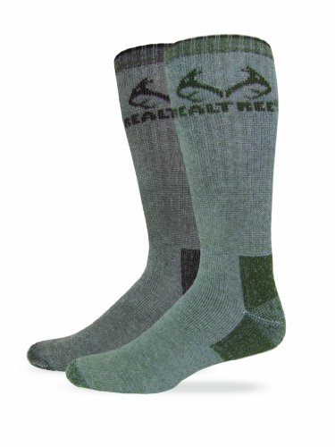 realtree-outfitters-mens-ultra-dri-boot-socks-2-pair-olive-brown-large