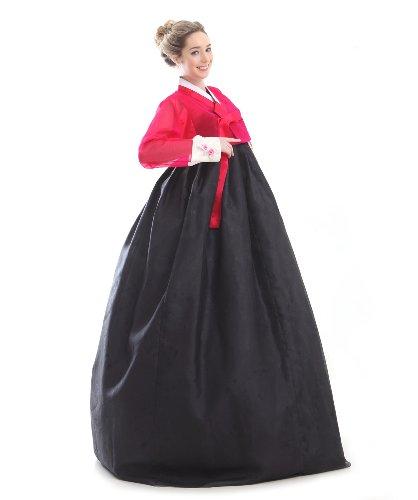 Korea Kleid Handgemachter Dress Hanbok Elegant Seide Kleid Umbund Schwarz Tracht Neu Lang Design 100 Mode Party Fashion EwwIBqH