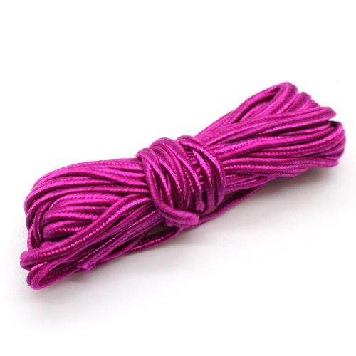 - Soutache Braid Cord Trim - Choose Color - 3x1mm, 5 yds (Fuschia)