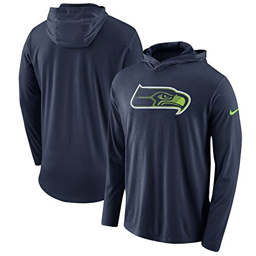 Nike Seattle Seahawks Blend Performance Long Sleeve Hooded Shirt (Large)