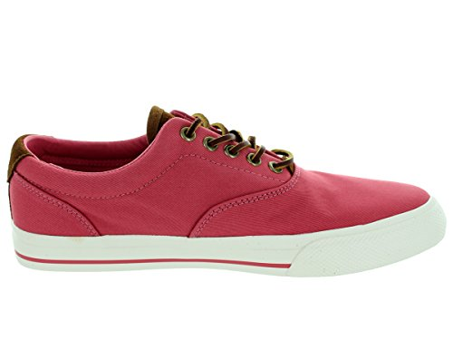 Polo Ralph Lauren Mens Canvas Vaughn Sneaker Adirondack Berry