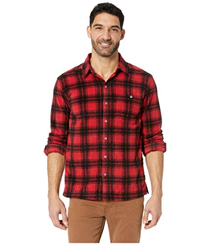 White Sierra Men's Bear Creek Microtek Plaid Shirt, Medium, Chilli Pepper