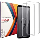 Galaxy S9 Screen Protector,Galaxy S9 Tempered Glass Screen Protector,[2-Pack][Full Coverage] [9H Hardness][Easy Bubble-Free Installation][Anti-Scratch] Compatible with Samsung Galaxy S9