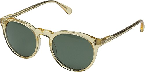 Raen Remmy 49 Polarized Round Sunglasses, Champagne Crystal, 49 - Sunglasses Raen