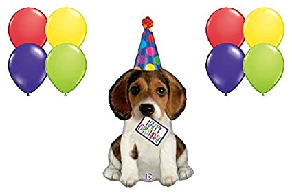Amazon Happy Birthday Puppy Dog Beagle With Party Hat 9 Piece
