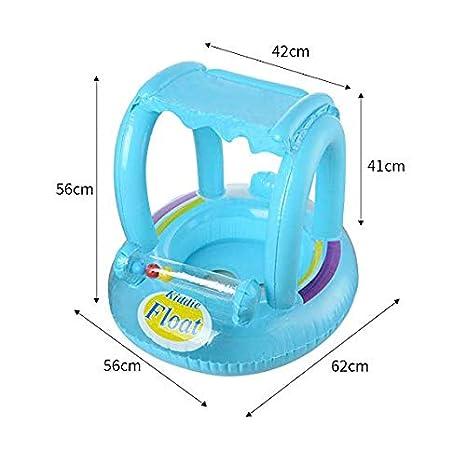 Amazon.com: YHYGOO - Anillo hinchable para bebés con techo ...