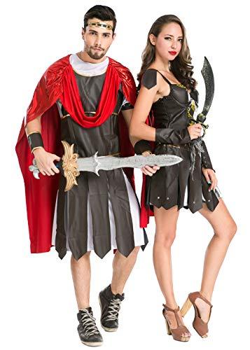 Couples Halloween Cosplay Costume,Greek Warrior National Couples Costume (Women) ()
