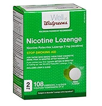 Walgreens Nicotine Lozenge 2 mg, Mint, 108 ()