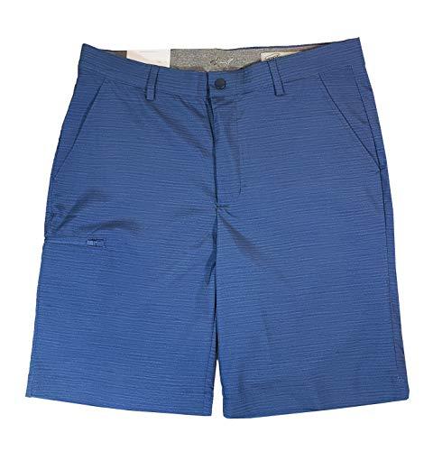 Greg Norman Mens Golf Performance Cargo Short (34, Blue Lines)