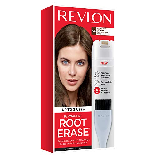 Revlon Root Erase Permanent Hair Color, Medium Ash Brown, 3.2 Fluid Ounce