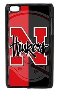 NCAA Nebraska Cornhuskers American Football Protector Hard Case for Apple iPod Touch 4th Generation - Black Design