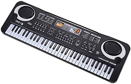 BianchiPamela 61 Keys Electronic Piano Keyboard with Microphone Children Musical Instrument