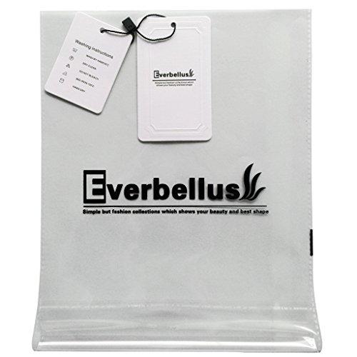 Everbellus Corsé de Entrenamiento Látex Underbust Bustier para Mujer Beige