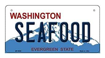 Amazon.com: Seafood Washington Novelty Metal Bicycle Plate