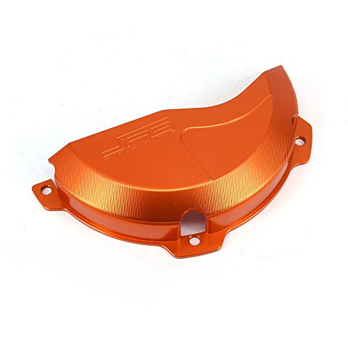 - JFG RACING CNC Aluminum Billet Orange Engine Case Clutch Cover Guard Protector For EXC 250 EXC 300 2009-2016 250SX 2009-2015