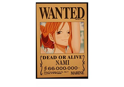 Bluefun Anime One Piece Pirates Wanted Posters 9pcs Set