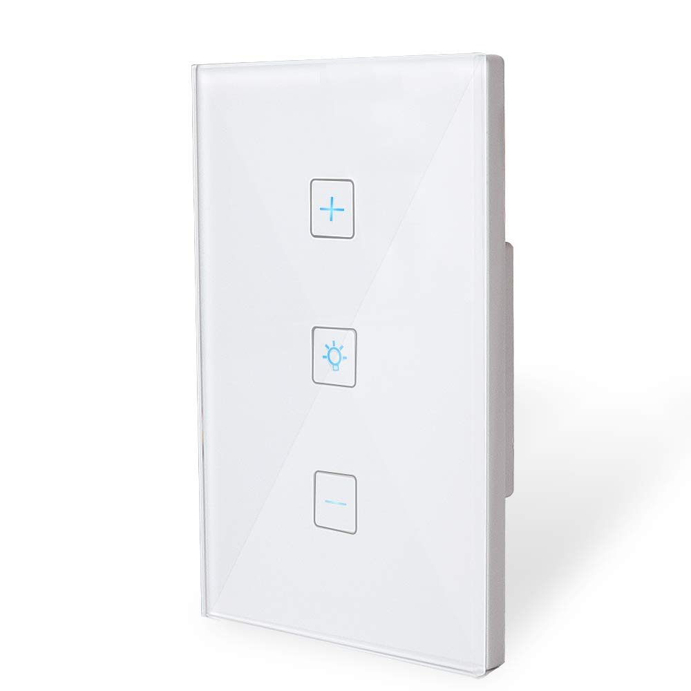 Wifi Light Switch-Smart DimmerSwitchPanelWork with Alexa Google Home IFTTT-Timer Function and Phone Remote Control Wall Light Any Where-No Hub Requiredand Free App (1 Pack)