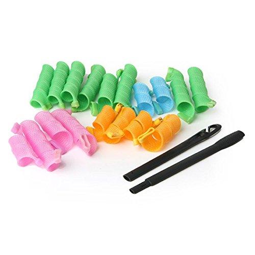 EQLEF® 18 Stück der Lockenwickler Wellig Gelockt Art-Kreis Spiral Wave-Frisuren-Haar-Maker - 9.8
