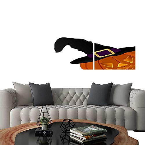 UHOO Prints Wall Art PaintingsPumpkin for Halloween in a Witches hat1. Customizable Wall Stickers 16