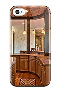 TYH - Hot First-class Case Cover For ipod Touch 4 Dual Protection Cover Country Kitchen Featuring Curved Countertop And Cabinet Space 9920423K34304540 phone case
