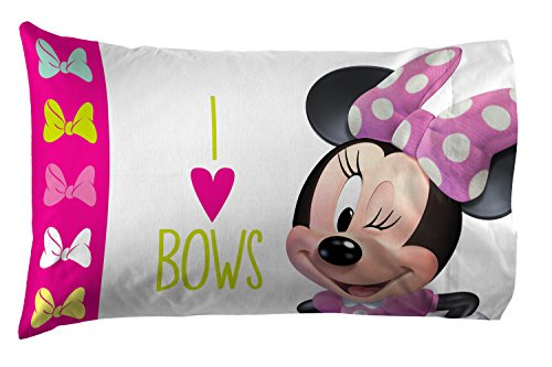Jay Franco Disney Minnie Mouse Bigger The Bow Kids Super Soft Double-Sided 1 Pack Pillowcase (Official Disney Product) by Jay Franco