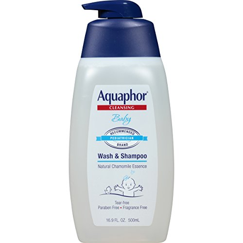 Aquaphor Baby Wash and Shampoo - Mild, Tear-Free 2-in-1 Solution for Baby's Sensitive Skin - 16.9 fl. oz. Pump (Best Way To Treat Eczema On Babies)