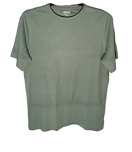 - Kirkland, Mens 100% Peruvian Pima Cotton Crew Neck T-Shirt, Olive, Medium