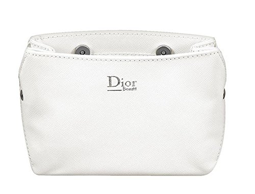 Dior WHITE BUTTON MAKEUP COSMETIC BAG CASE