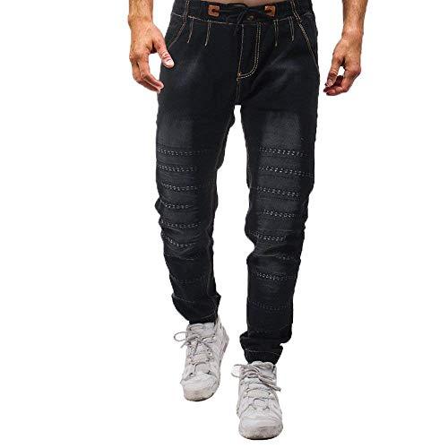 Qk Da Con Retro lannister Motorcycle Skinny Stretch Jeans Casual Pants Ragazzo Nero Pantaloni Cargo tasca Multi Denim Uomo Nen Fashion ESxErwqAa
