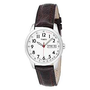 Timex Men's T2N228 Elevated Classics Dress Brown Leather Strap Watch