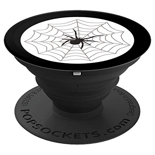 Spiderweb Halloween Phone Stand Spooky Spider Witchy Gift - PopSockets Grip and Stand for Phones and Tablets