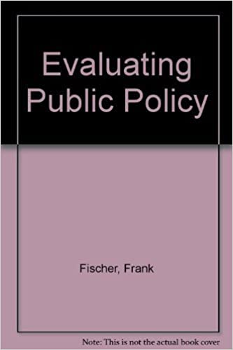 Book Evaluating Public Policy by Fischer, Frank (2005)
