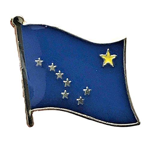"Backwoods Barnaby Alaska Flag Pin/U.S. State Lapel Pins Collection (AK, 0.75"" x 0.75"")"