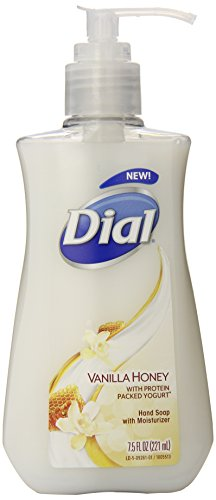 Dial Liquid Hand Soap, Vanilla Honey with Protein Packed Yogurt, 7.5 Fluid ()