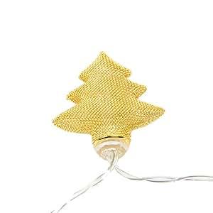 jltph Golden árbol de Navidad para iluminación de ambiente funciona con pilas luces LED String para Festival, boda, navidad, Club, paisaje decoración, luz blanca cálida
