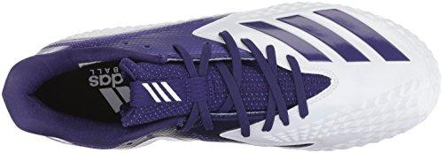 Adidas Heren Buitenissig X Carbon Mid Voetbalschoen White / Collegiale Paars / Collegiale Purple