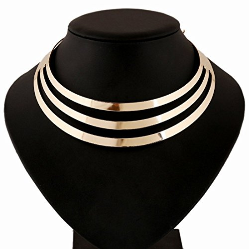SMoon-Charm-Metal-Chunky-Statement-Bib-Choker-Necklace-Jewelry