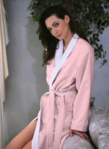 Luxury Spa Robe - Microfiber with Cotton Terry Lining, Pink, XXX-Large by Plush Necessities (Image #6)