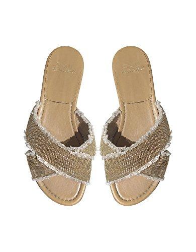 Stuart Weitzman Mujer VL09301 Oro Cuero Sandalias