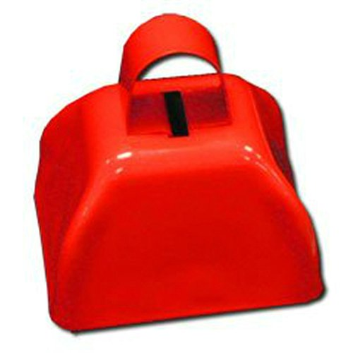 12 (1 Dozen) Red Cowbells – Football Noisemakers Sporting Events Fundraisers, Health Care Stuffs