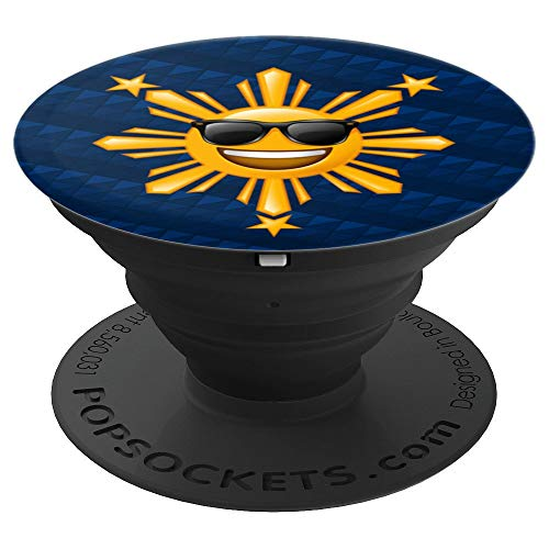 Philippine Flag Phone Accessory | Filipino Happy Sun - PopSockets Grip and Stand for Phones and Tablets
