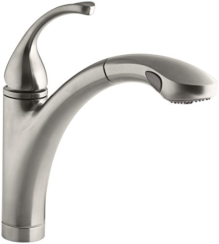 KOHLER K-10433-VS Forte Single Control Pull-out Kitchen Sink Faucet