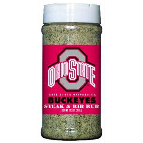 Ohio State Buckeyes NCAA Steak and Rib Rub (14.5 oz) by Hot Sauce Harry's